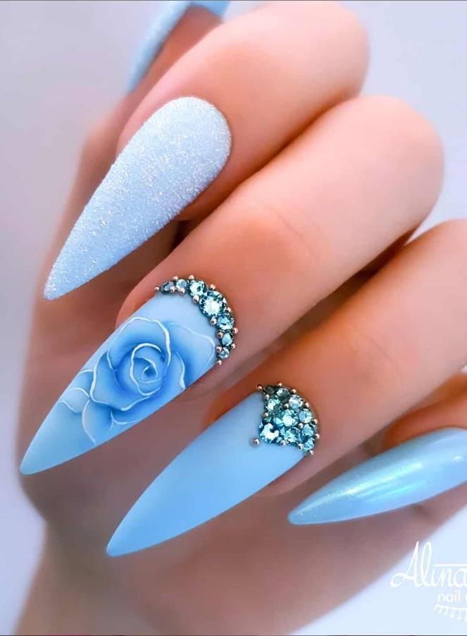 68 Beautiful Stiletto Nails Art Designs And Acrylic Nails ...