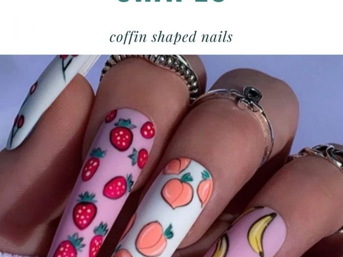 acrylic coffin nail designs for Summer nail trends 2021!