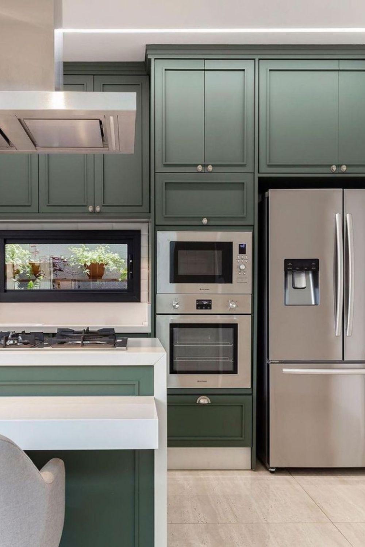 Green cabinet idea