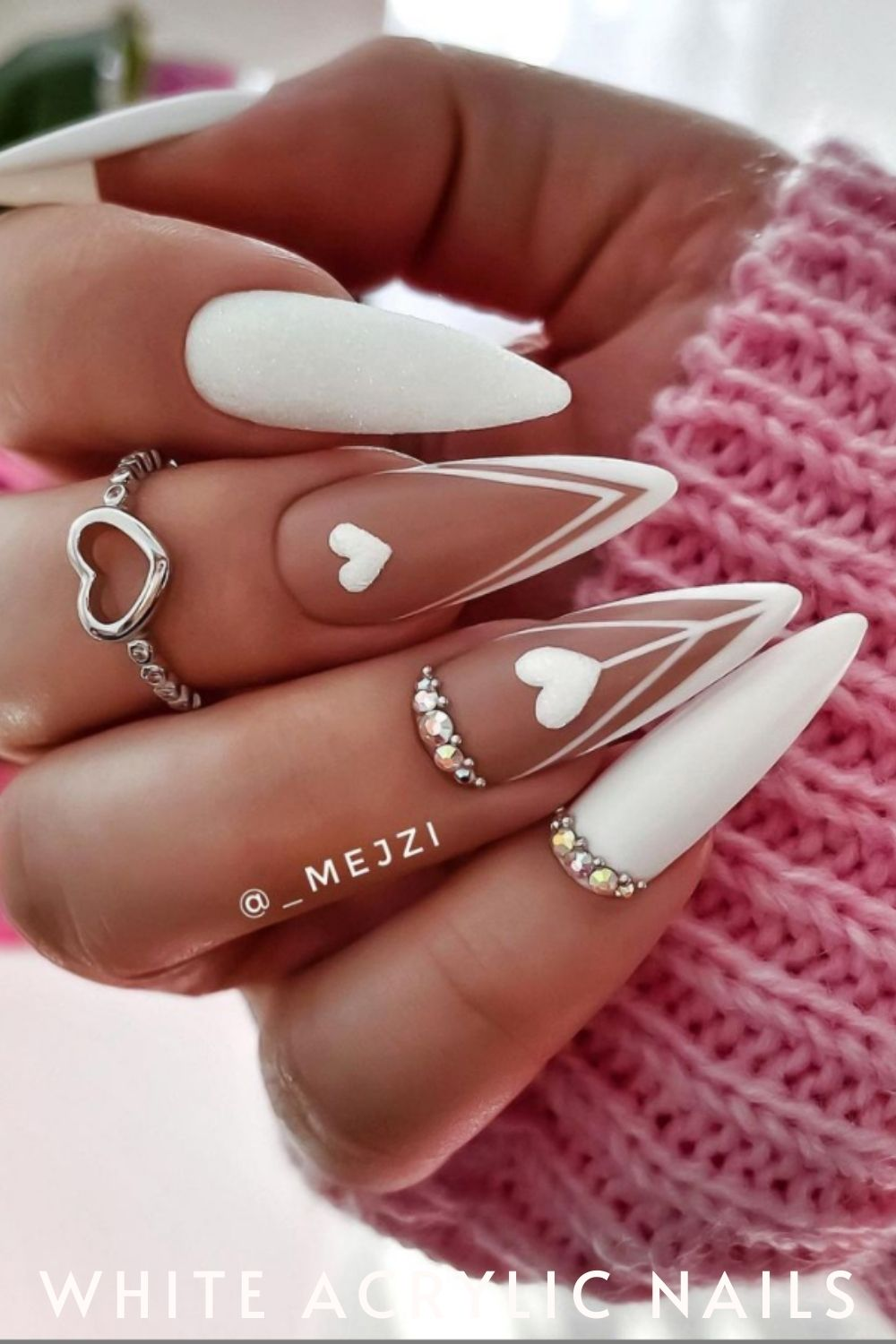 white almond nails are