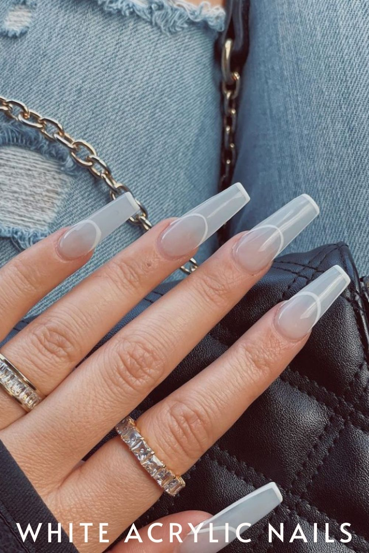 Clear white nail designs