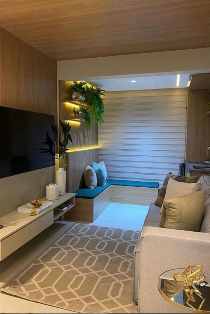 Hanging TV cabinet design and home decor ideas