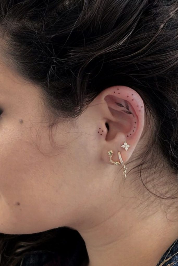 Cute and Cool Small Ear Tattoos for Women