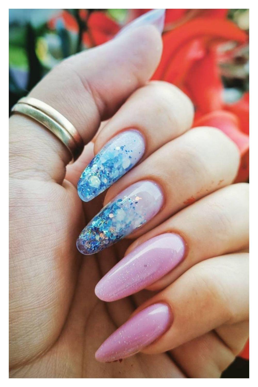 Beach almond nails designs