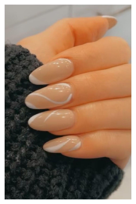 Simple almond nails art