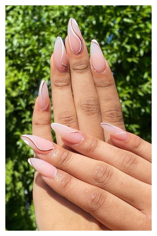 Unique almond nails