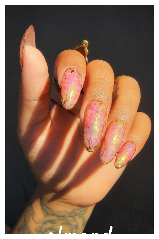 Geometric Summerly Nail Art
