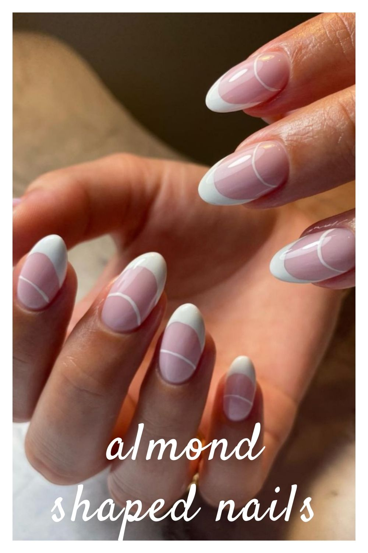 Short white french nails