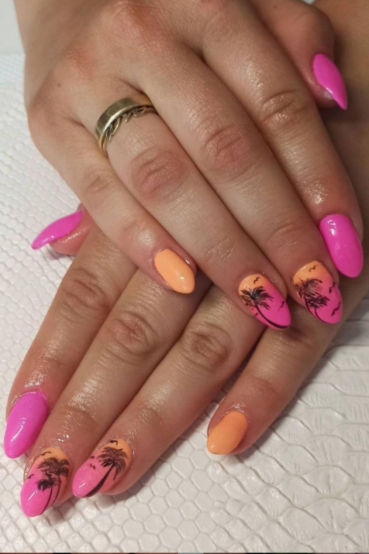 Palm tree nails designs