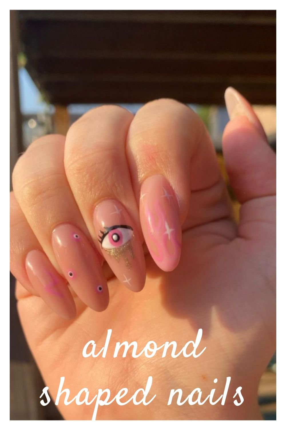 Nail art design with eyes