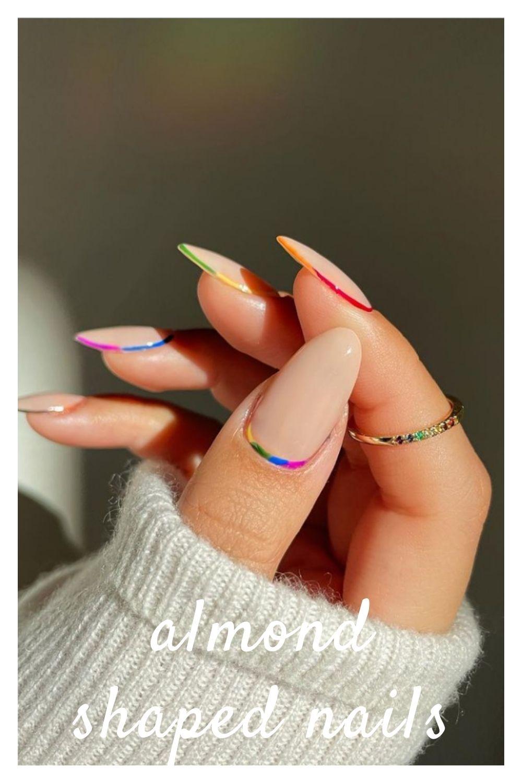 Beautiful almond nail