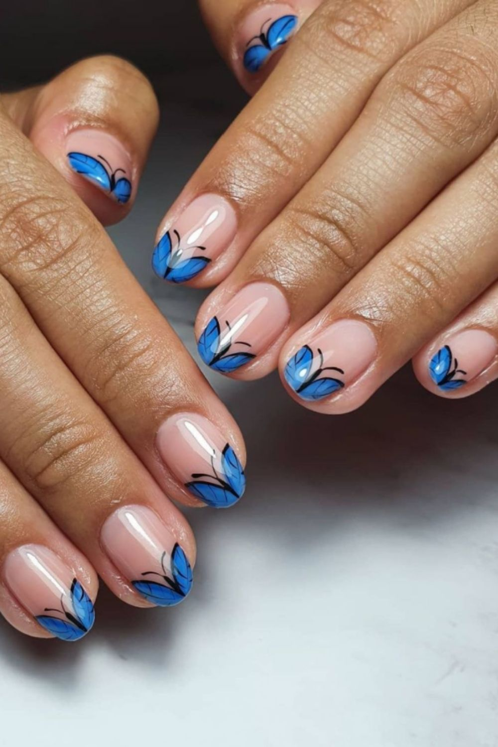 Butterfly tip nails
