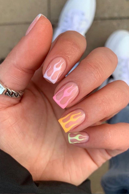 Unique square nails ideas