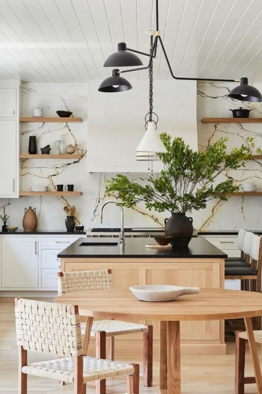 The kitchen is also a good place for greenery