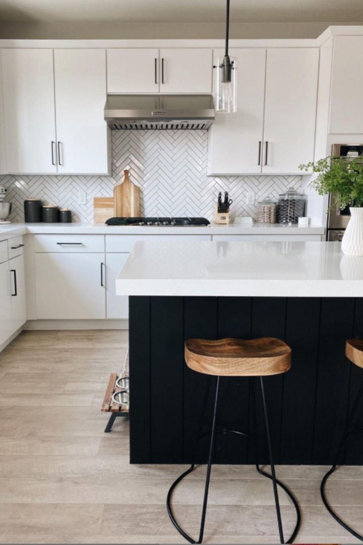 White and black kitchen designs
