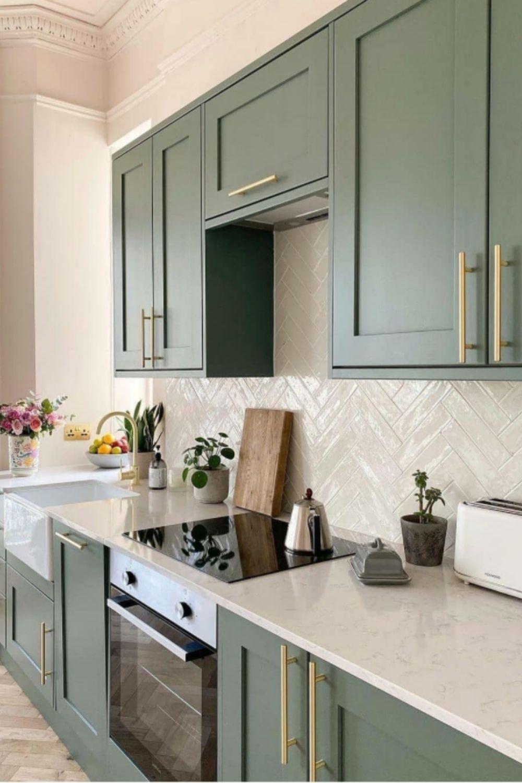 Green kitchen idea art