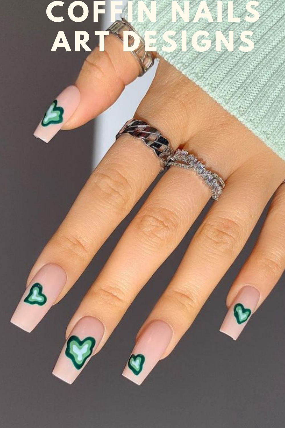 Simple coffin nails ideas
