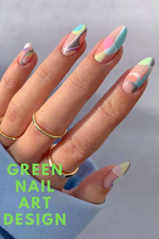Rainbow nails art