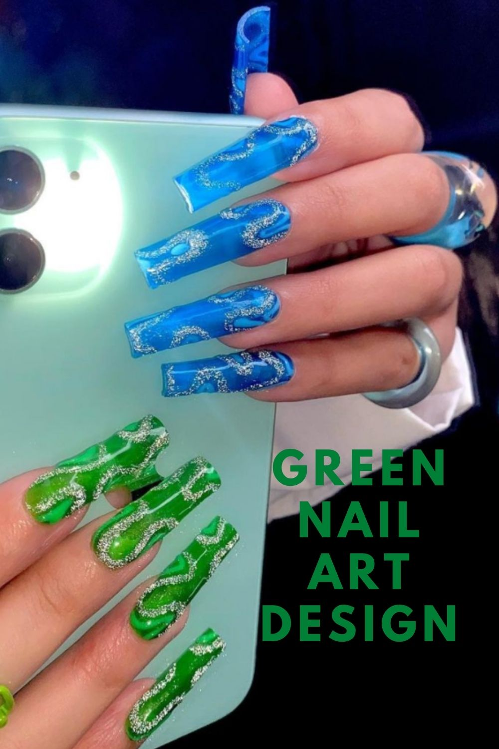 Fun coffin nails designs for summer nails 2021