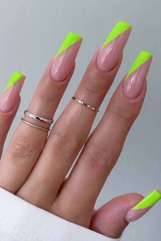 Neon tip nails art designs