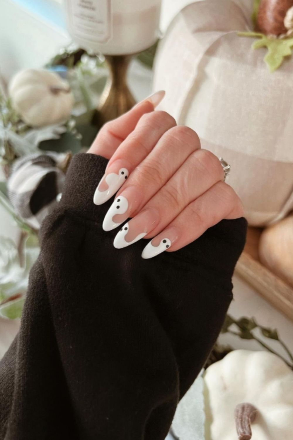Ghost Manicures for Halloween