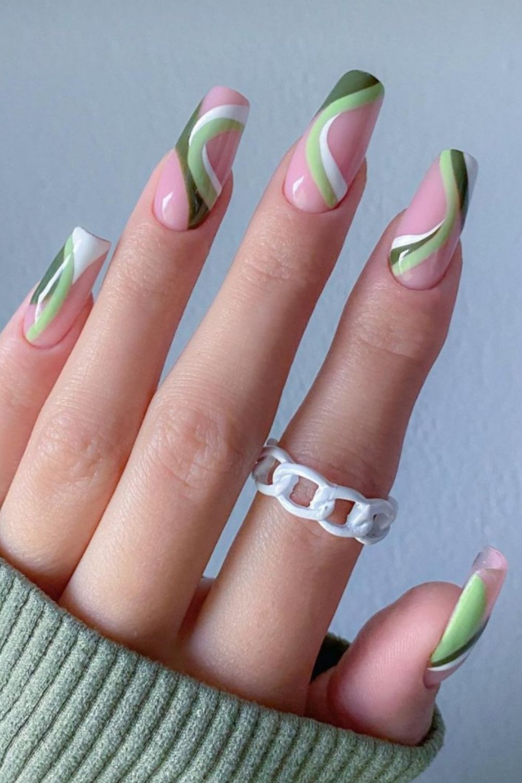 Pastel coffin nails ideas