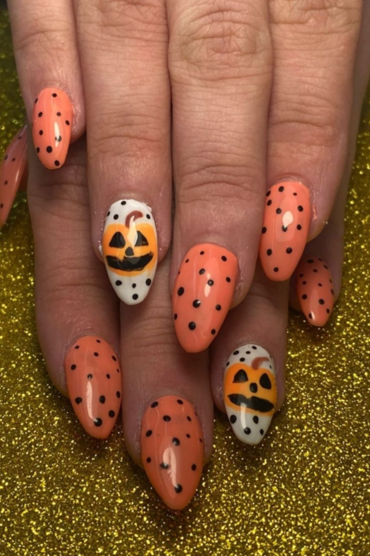 Pumpkin Almond Nail Designs