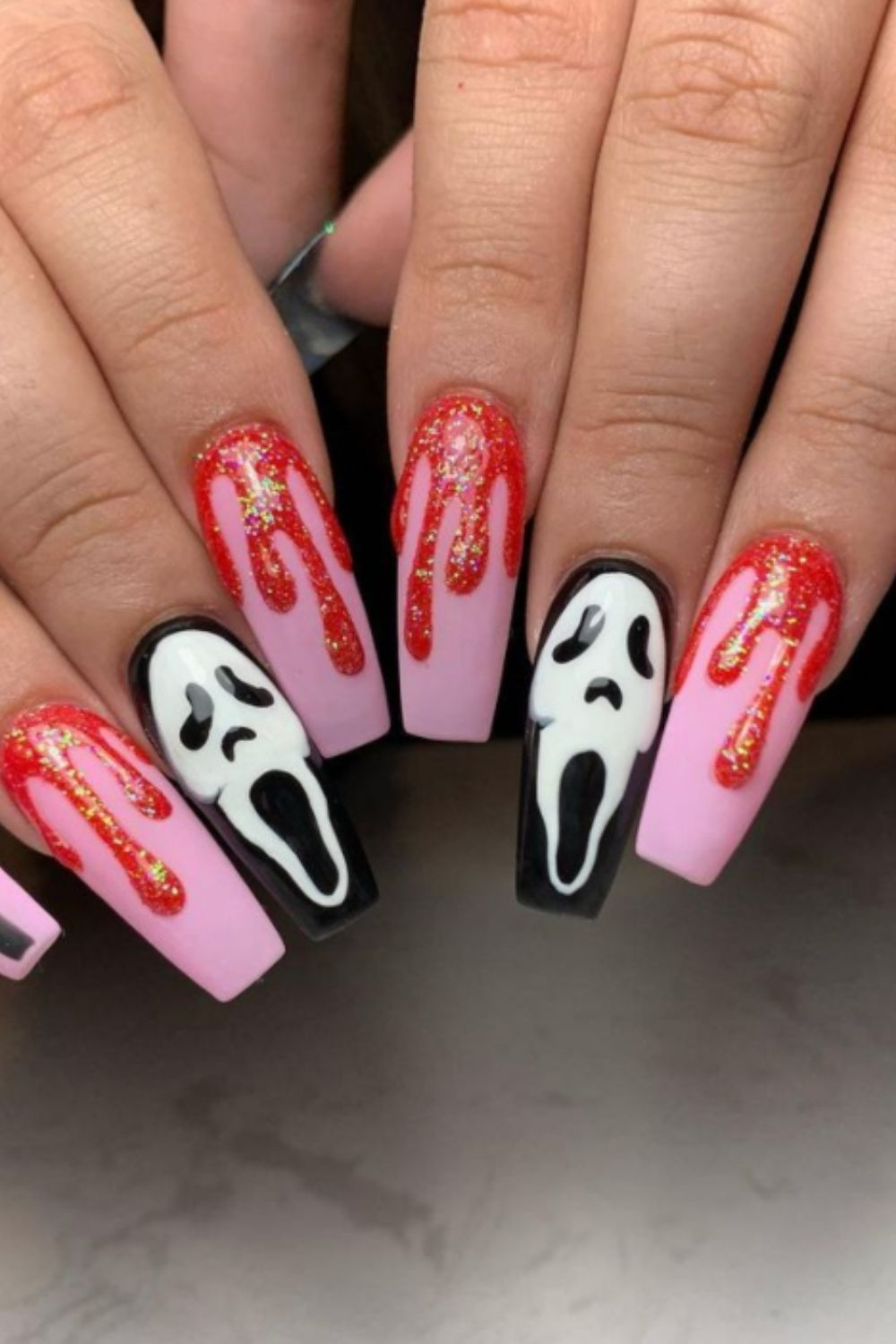 Bloody Nail Designs – With Blood Drops, Wounds, Knives