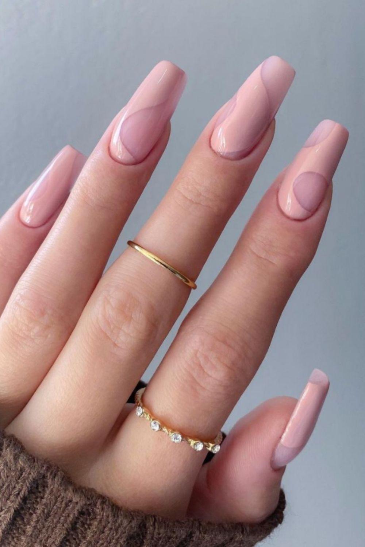 Acrylic coffin nails art