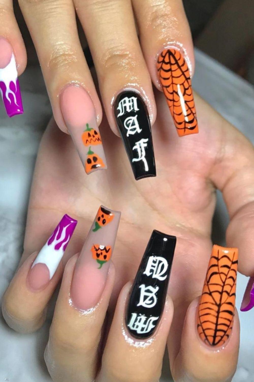 Pumpkin Nail Designs