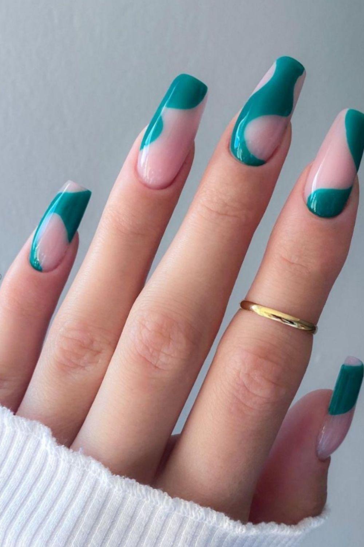 Khaki green, matte coffin nail