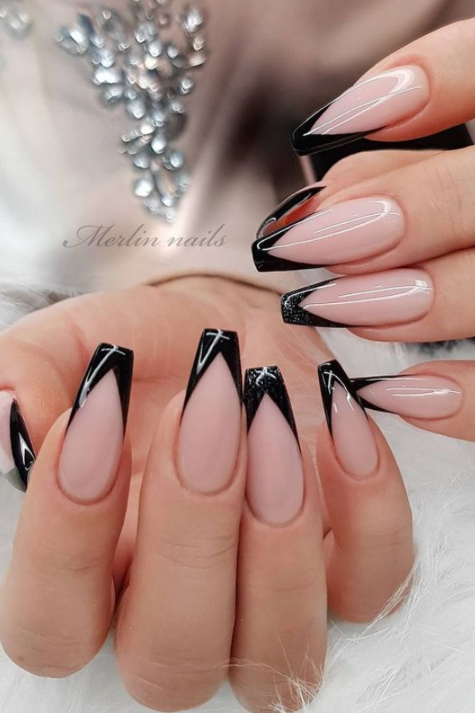 Black tip coffin nail