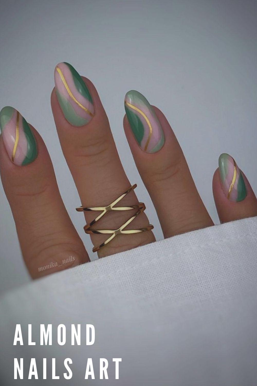 Acrylic almond nails art