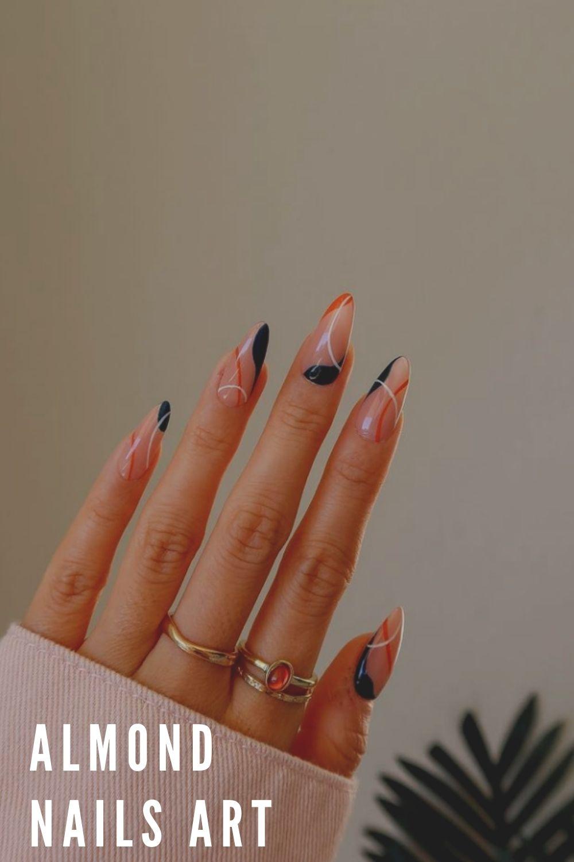 Fall almond nail ideas